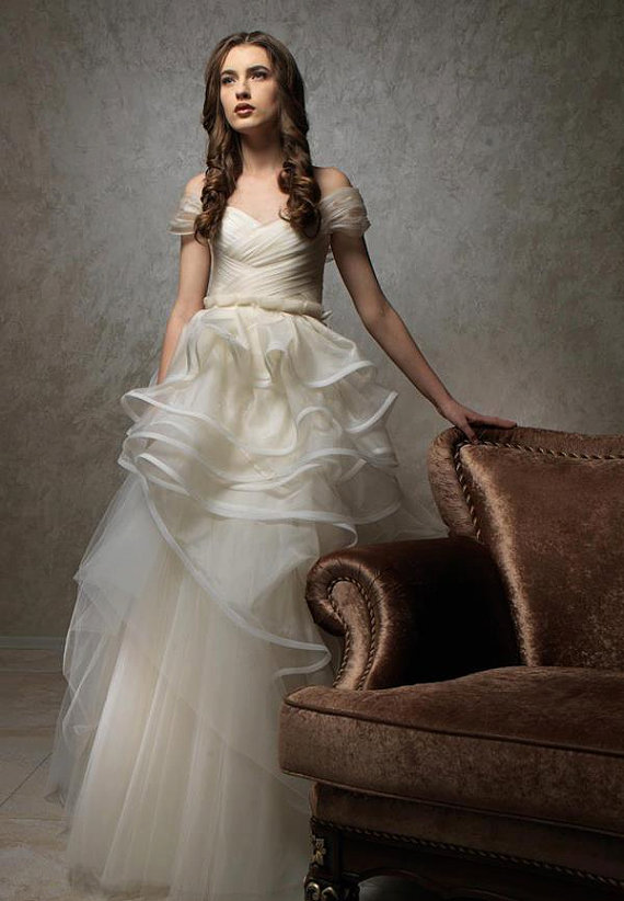 Once Upon An Enchanted Evening Gossamer Fairy Wedding Gown